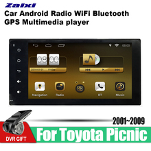 ZaiXi Android Car GPS Multimedia Player For Toyota Picnic 2001~2009 car Navigation radio Video Audio WiFi Bluetooth
