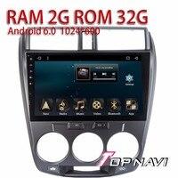 Автомобиль фото просмотра для Honda City 2008-2014 10.1 ''wanusual plug & play Android 6.0 RAM2G автомобильный навигатор с бесплатным SD карты памяти