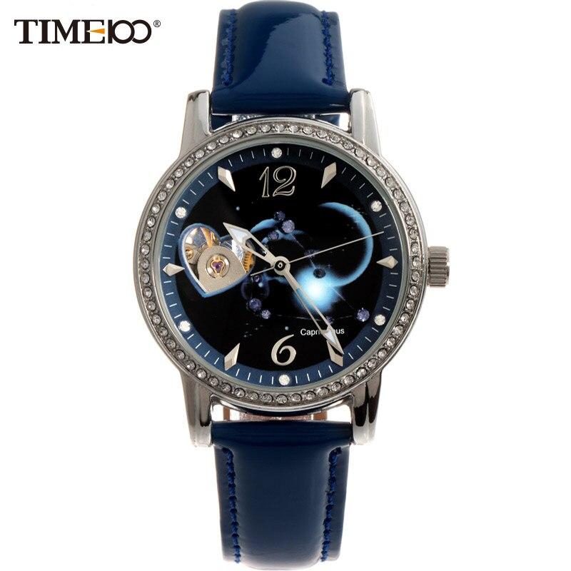 TIME100 12 Constellation Capricornus Women's Automatic Self-wind Mechanical Watch reloj Diamond Ladies Dress Watches 4 time100 w40109m