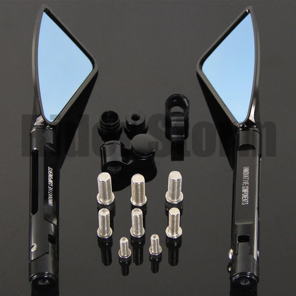 алюминий чпу мотоцикла боковые зеркала заднего вида для Kawasaki Zx