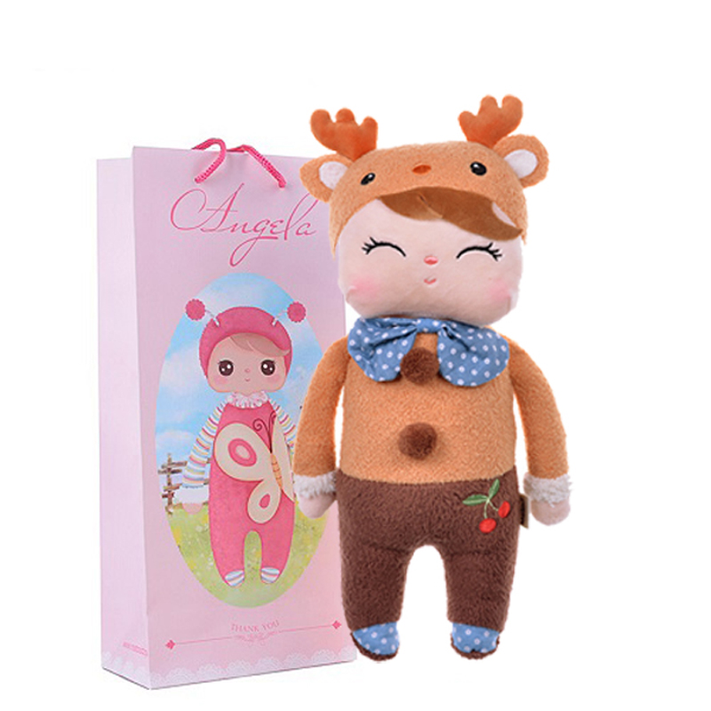 Plush Sweet Cute Lovely Stuffed Baby Kids Toys for Girls Birthday Christmas Gift 13 Inch Deer Angela Rabbit Girl Metoo Doll fashion bjd dolls zipper bag backpack for 18 inch bjd doll accessories toys for girls christmas birthday gift for kids toys