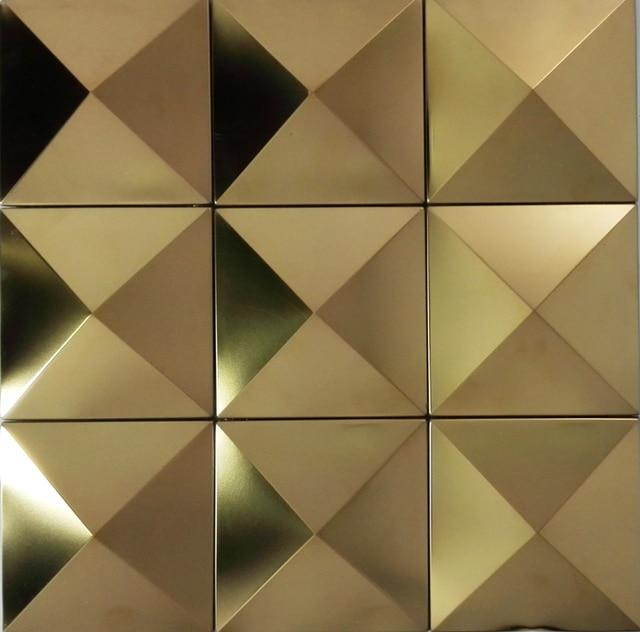 Große Pyramide Xmm Gold Edelstahl Metall Mosaik Fliesen D - Mosaik fliesen größe