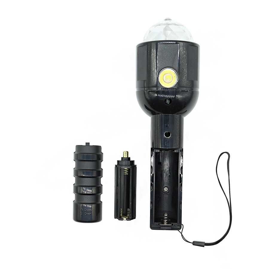 3W Mini LED Portable Stage Light Flashlights Torches Auto Rotating RGB Projector Disco party Chrismas Lamp Battery Operated Bulb