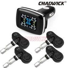 Cyfrowy system monitorowania ciśnienia w oponach 12 V ciśnienia w oponach TPMS Alarm samochodowy czujnik wewnętrzny zasilania z gniazda zapalniczki CHADWICK TP620E