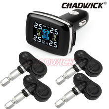 Digital Tire Pressure Monitoring System 12V TPMS Tire Pressure car Alarm internal sensor cigarette lighter power CHADWICK TP620E