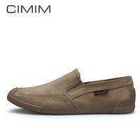 CIMIM Brand New Men Canvas Shoes Hot Sale Summer Casual Mens Loafers Chaussure Homme Fashion Slip