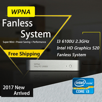 Computer Office Nettop UX830 Intel Core I3 6100U HD Graphics Iris 520 4K HDMI WIFI Windows