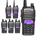 6 шт./лот BAOFENG 2016 Новые УФ-82 портативных двухстороннее радио VHF/UHF 136-174/400-520 МГц Двойной группа Радио Walkie Talkie UV82