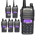 6 unids/lote baofeng 2016 nuevo portátil radio de dos vías uv-82 vhf/uhf 136-174/400-520 mhz dual banda de radio walkie talkie uv82