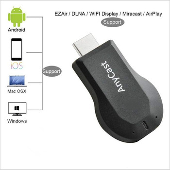 AnyCast M2 Plus Wireless WiFi Display Dongle Receiver 1080P HD Interface TV Stick Airplay Miracast for Smart Phones Tablet TV Stick