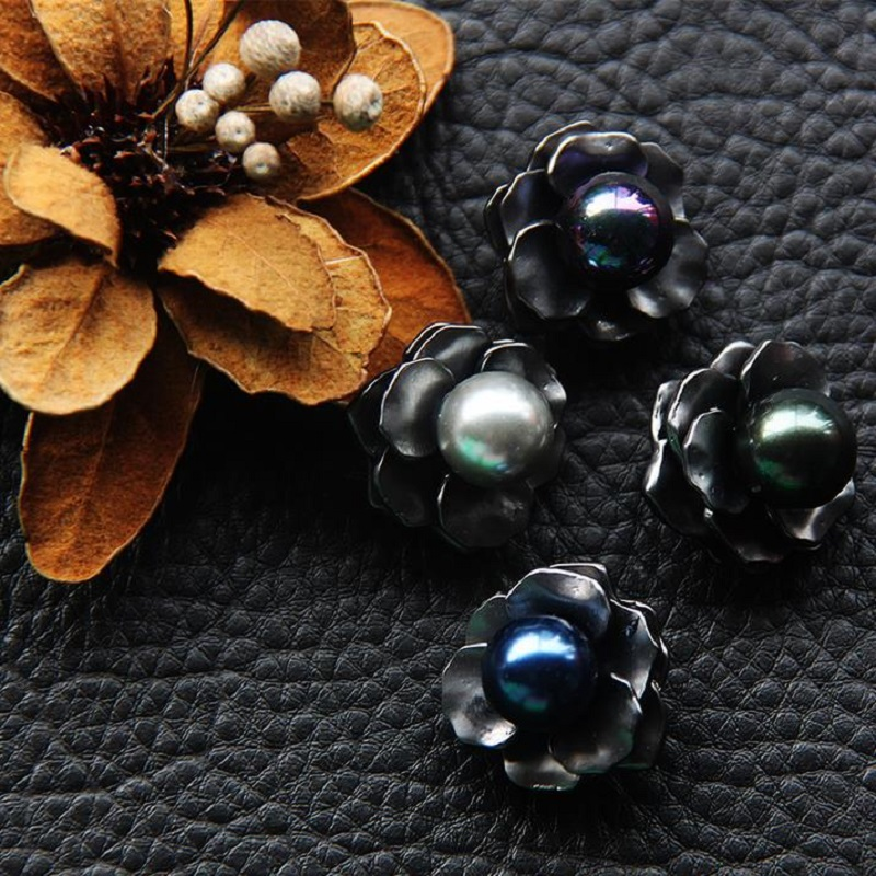 Imported From Abroad High Grade Clothing Drilling Buttons Metal Ladies Sweaters Suits Pearl Petals Drill Fashion Buttons 22mm Clothing Accessories Home & Garden Apparel Sewing & Fabric