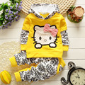 BibiCola baby girls christmas outfits Clothing sets hoodies+pant Children spring autumn kids 2pcs Sets sport Suit clothes set
