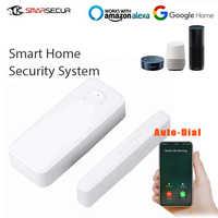Wireless Smart WiFi Door Window Sensor Home Security Magnetic Detector Compatible APP Control Work With Amazon Alexa