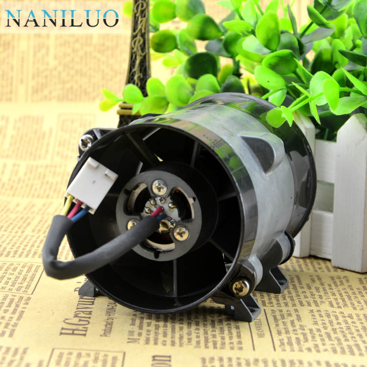 NANILUO 12V 16.5A <font><b>10CM</b></font> super violent metal <font><b>fan</b></font> car modified high-power electric turbocharger (thick line) image