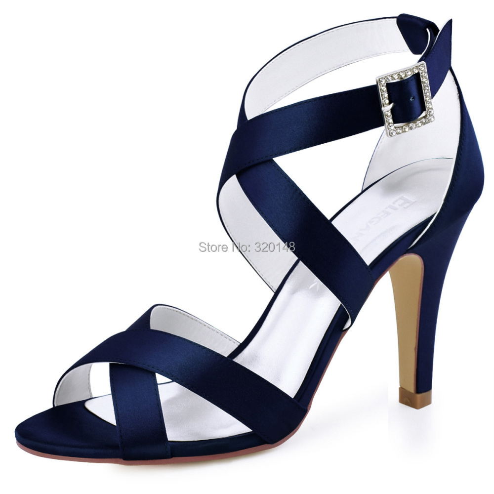 c2eeacae5a2d Summer Woman Sandals Sexy Silver Ankle Strap High Heel Bling Rhinestone  Satin Bride Bridesmaid Pumps Bridal Wedding Shoes HP1505USD 35.95/pair