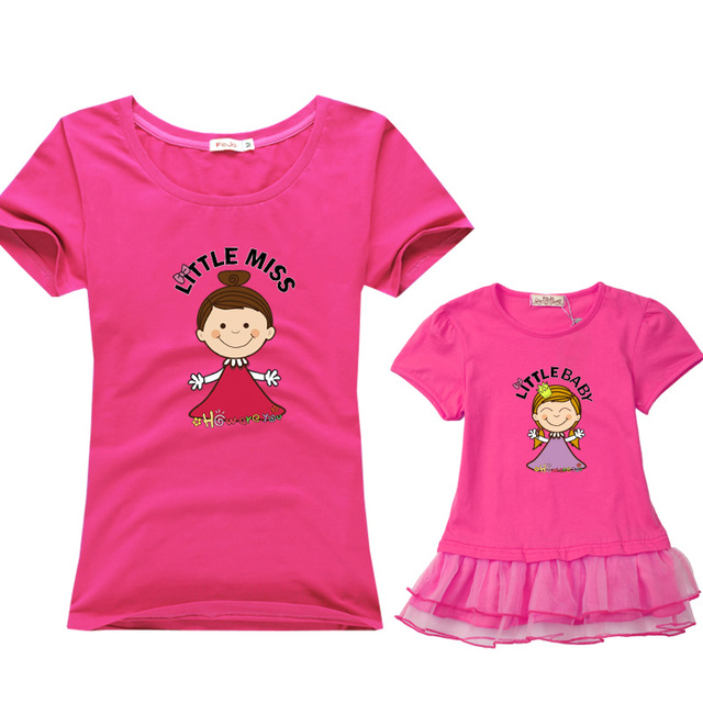 Matching family clothing cotton short-sleeve T-shirts