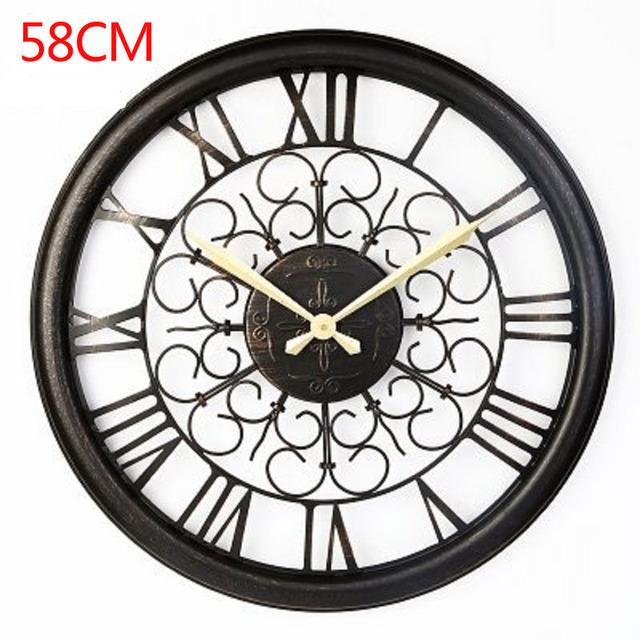 58CM Large Wall Clock Saat Clock Reloj Duvar Saati Horloge Murale Relogio de parede Digital Wall Clocks Klok Watch Home decor