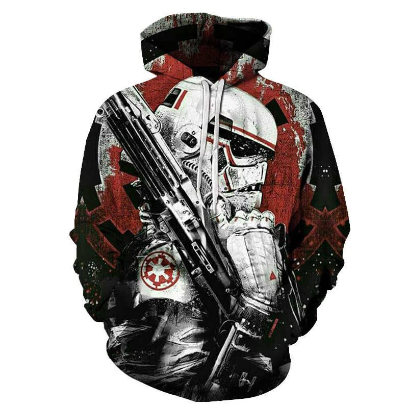 худи 2019 Star Wars Hoodie Print Hoodie 3D Cool Design Men's Sweatshirt Casual Men's Sportswear Fashion Coat Asian Size S-6xl