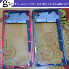 Gray Red Silver New Middle Frame / Bezel For Lenovo VIBE Shot MAX Z90 z90a40 z90-7 z90-3 z90-a z90a Phone parts free shipping