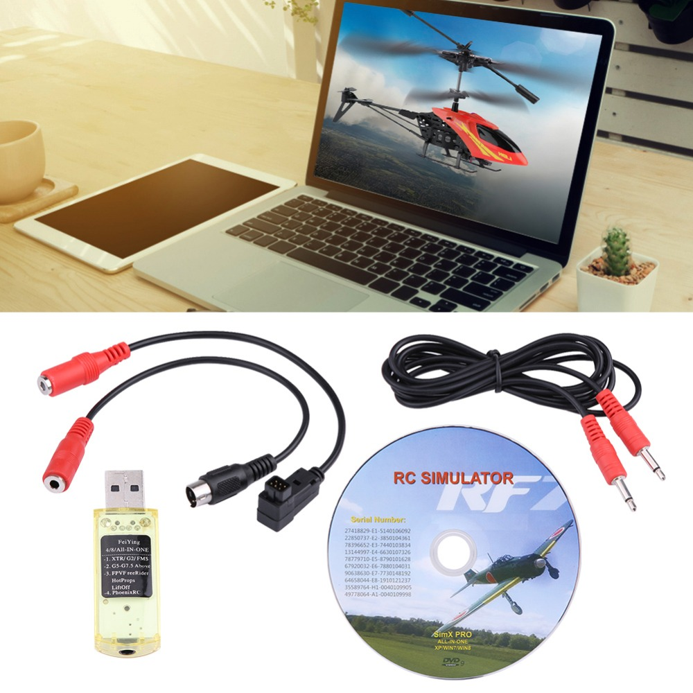US $6 82 50% OFF|22 in 1 RC USB Flight Simulator with Cables for Realflight  G7/ G6/ G5/ Aero Fly / FMS Phoenix 4 E2HG RC Flight Simulator & Cable-in
