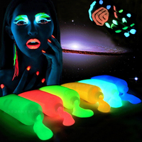 Nightclubs Face Paint Fluorescent Luminous Glowing Tattoo Halloween Night Run Equipment Akvagrim Body Paint Temporary Tattoo