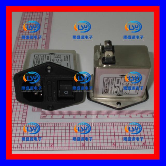 1 unids/lote Taiwán CANNYWELL EMI filtro de la energía de tres en una toma de interruptor con seguros CW2B-03A-T 110-250V3A filtro de alimentación de CA