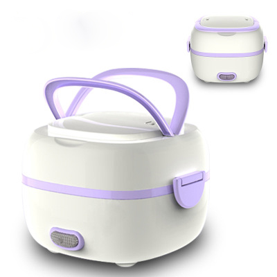 Mini Rice Cooker Rice Thermostat Egg Steamer Electric Lunch Box Heated Food Containers Food Warmer for Home Office reheating automatic heated food containers mini lunch box multifunction food box heat preservation