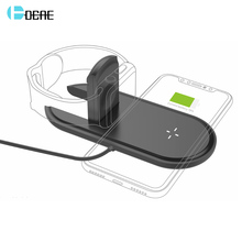 DCAE 2 in 1 Fast Charging Qi Wireless Charger For Apple Watch 2 3 4 iwatch Pad Dock for iPhone XS MAX XR X 8 Plus Samsung S8 S9