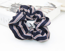 Free Shipping 2017 New summer striped printed women's lace hair Scrunchies Hair Tie Hair Accessories Ponytail Holder Hair
