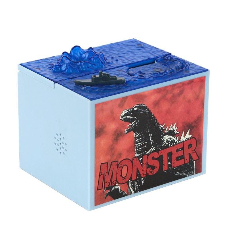 Cute Cartoon Godzilla Movie Musical Monster Moving Electronic Coin Money Piggy Bank Box Hot Sale