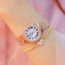 New Fashion Rose Gold Women Watch Women Diamond Quartz Watch Ladies Stainless Steel Casual Wristwatch Drop Shipping montre femme цена