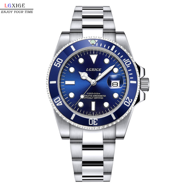 Full Steel Mens Watches Top Brand Luxury Watch Men for Clock Male 50m Role Sport