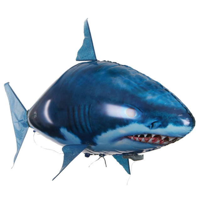 1PCS RC Animals flying Shark Helium Fish Balloons Inflatable RC Helicopter Robot Gift For Kids toys