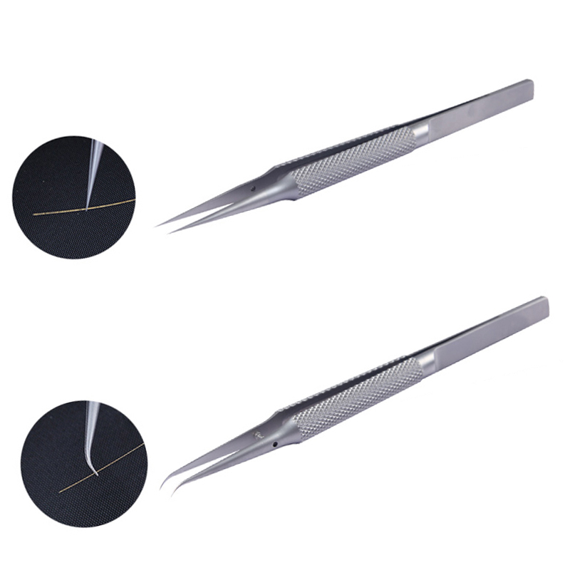 New Phone Repair Tools Jump Line Tweezers Clip 0.02mm Fly Line Ultra Precision Titanium Alloy Tweezers For IPhone Motherboard