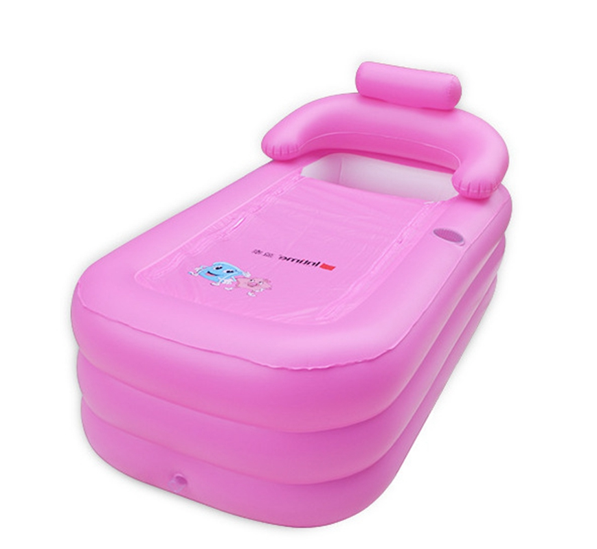 2 colors Bath Pool large size Adult Thickening Portable Inflatable ...