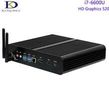 Новые Barebone Mini PC, Безвентиляторный Настольный Компьютер, Intel 6-й Генерал i7-6600U, Двухъядерный ПРОЦЕССОР, Intel HD Graphics520, 1 * DP + 1 * HDMI, Windows10