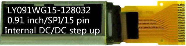 0.91 inch 128x32 internal DC-DC 15pin 4-SPI OLED Display