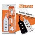 Usb extender uno se divide en cuatro Para El teléfono, teclado, mp3, ventilador usb, ratón y otros dispositivos usb conector