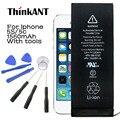 Thinkant marca original para iphone 5s batería batería 1560 mah capacidad real para iphone 5c con máquinas herramientas kit para iphone5s/5c