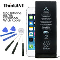 Thinkant marca original para iphone 5s bateria 1560 mah de capacidade real para o iphone 5c bateria com kit de ferramentas de máquina para iphone5s/5c