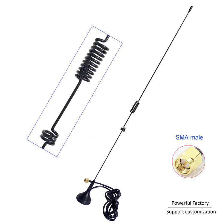External 433 MHz Suction Cup Antenna High Gain 7dBi UT-106UV UV5R Car 433Mhz Walkie-talkie Antenna Sma Male Connector 1pcs