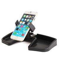 Multifunction Car Dashboard GPS Phone Holder Stand Rotate Stretching 105mm Storage Bracket Mount Black Universal For