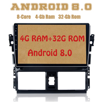 Android 8.0 car radio gps for toyota Vios Yaris 2013 2016 with Octa core PX5 4G RAM 32G ROM wifi 4g usb Auto Stereo Multimed
