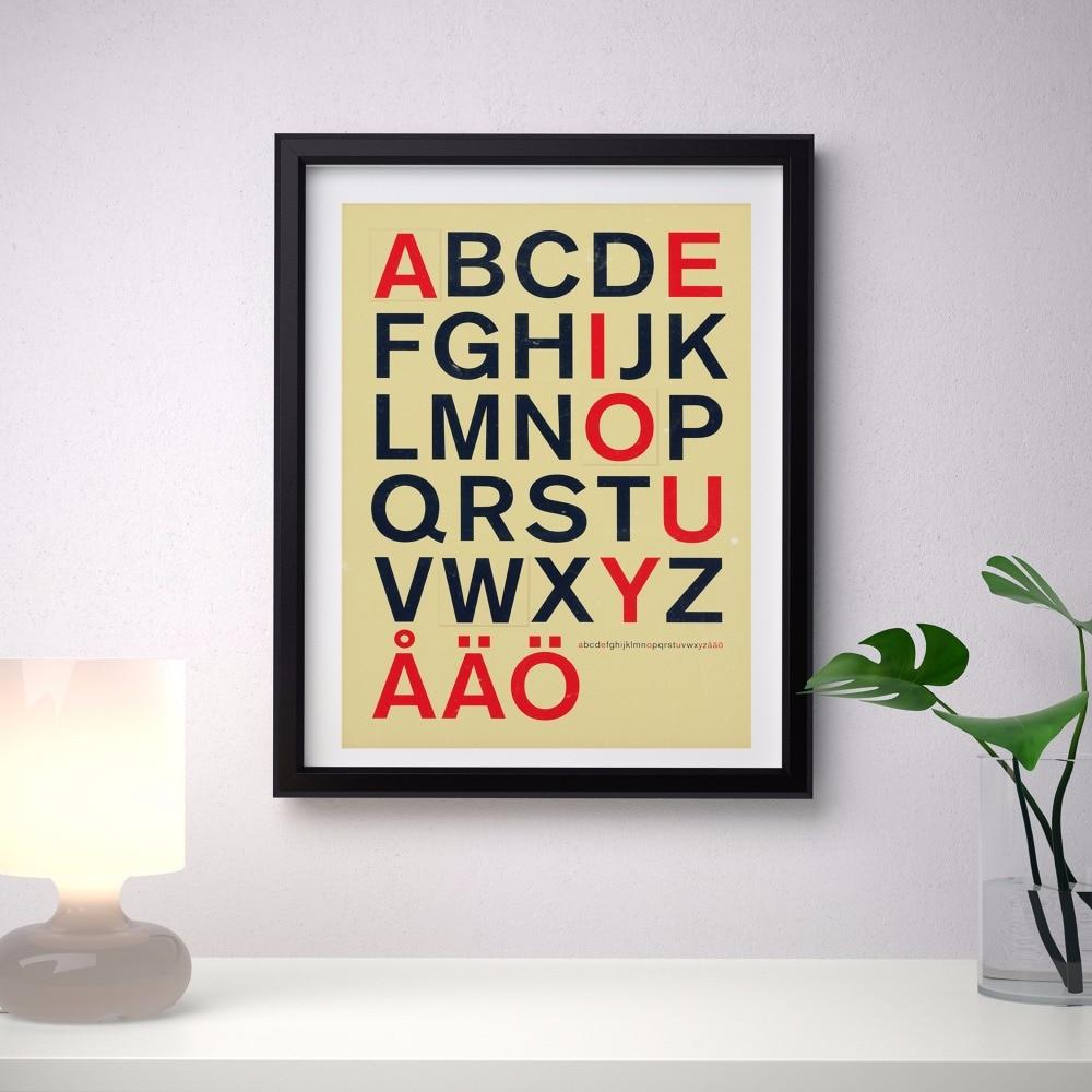 Nordic Einfache Schrift Alphabet Kunstdruck Malerei Poster ...