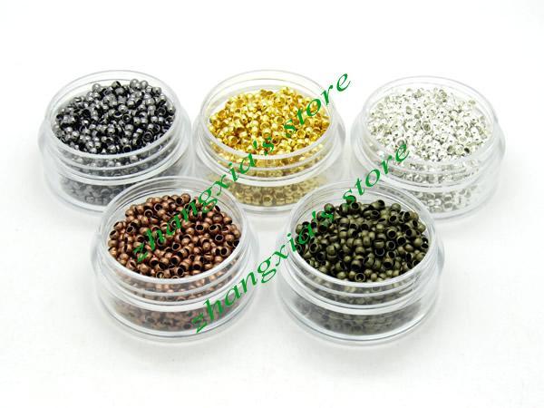 1000 шт. 2.5 мм Диаметр Micro Nano Кольца/Соединения/Шарики Для Nano Кольца Наращивание Волос, Наращивание Волос инструменты, 5 цветов, бесплатная Доставка