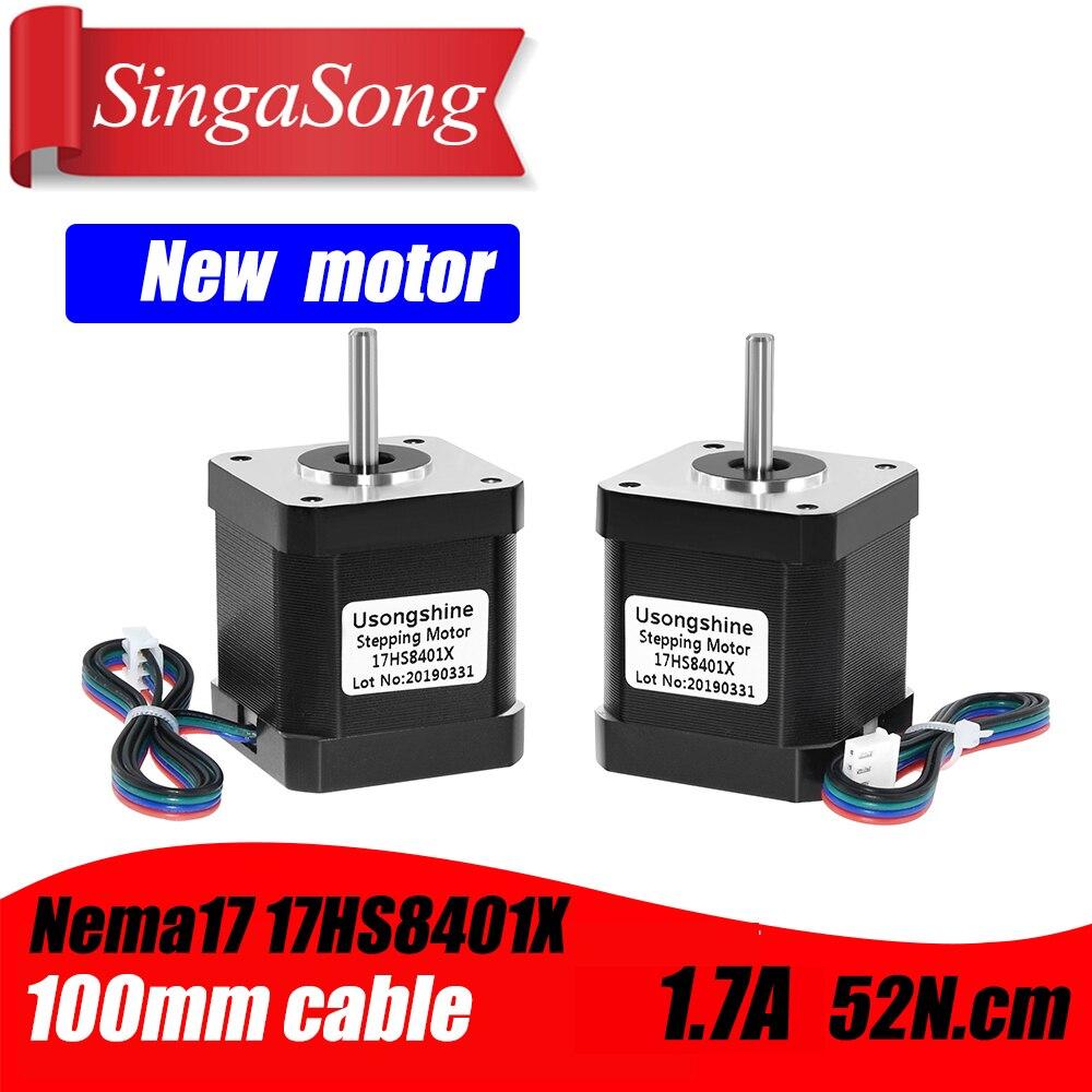 Nema 17 Stepper Motor 48mm Nema17 Motor 42BYGH 2A 4-lead ( 17HS8401 ) Motor 1m Cable For 3D Printer CNC XYZ Motor