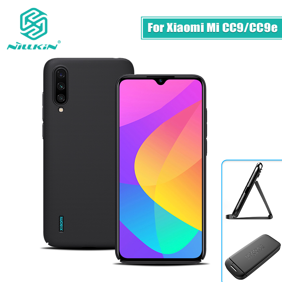 For xiaomi mi a3 case mi cc9e 6.088 NILLKIN Frosted PC Matte hard back cover Gift Phone Holder for xiaomi mi cc9 case mi 9 lite