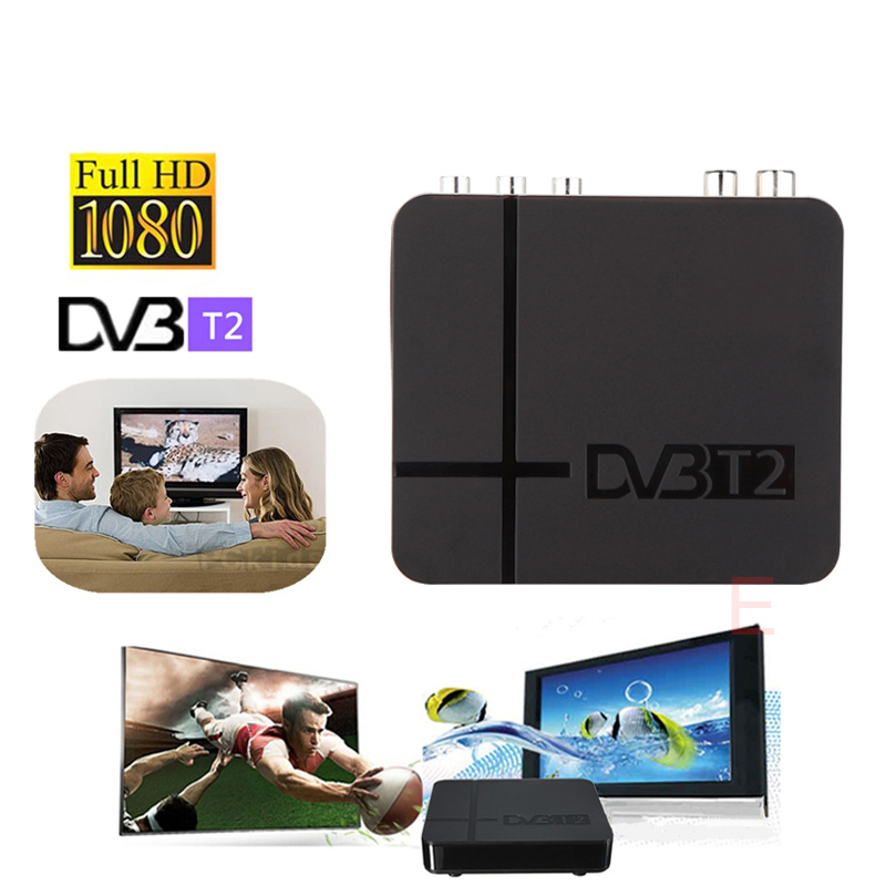 RUSSIA/EUROPE/THAILAND DVB T2 Tuner MPEG4 DVB-T2 HD Compatible With H.264 TV Receiver W/ RCA / HDMI PAL/NTSC Auto Conversion box 32 waterproof mirror tv for bathroom analogue tuner ntsc pal secam avs320fs integrated speakers free shipping