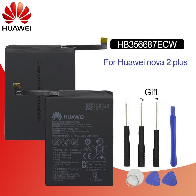 Hua Wei Original Phone Battery HB356687ECW For Huawei Nova 2 Plus Nova 2i Honor 9i Huawei G10 Mate 10 Lite 3340mah