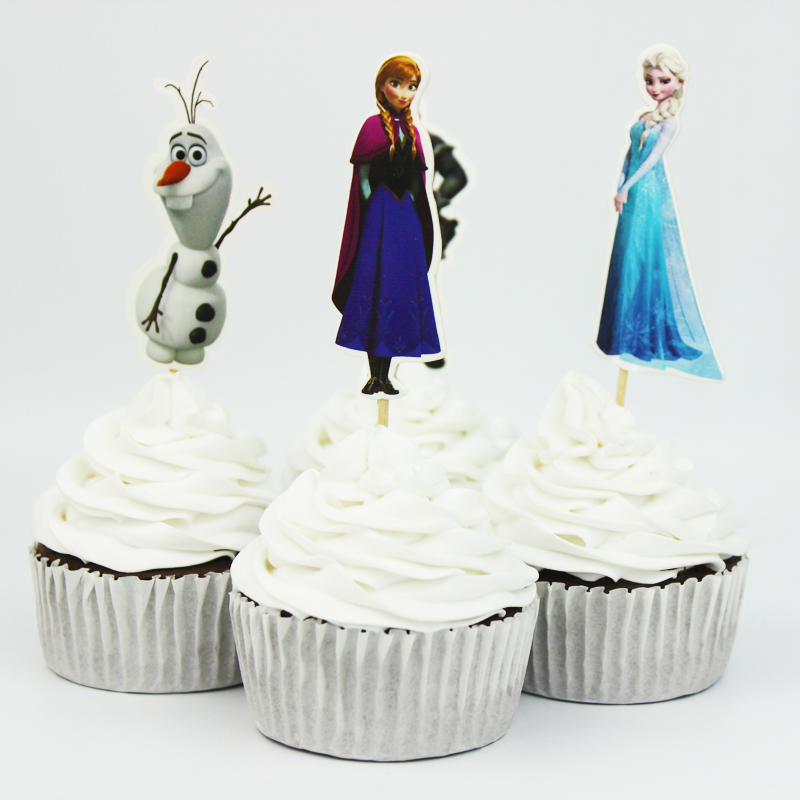 Frozen 24pcs anna cupcake topper picks birthday wedding for Anna decoration in home